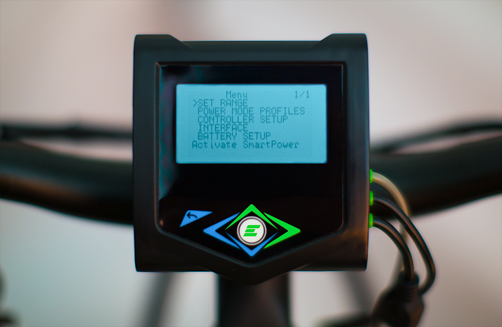 Controller for electric bikes rage settings